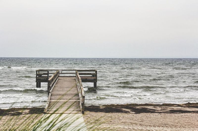 Recreation at baltic sea Wooden Board Seaview Horizon Over Water Recreation  Baltic Sea Sea Horizon Over Water Clear Sky Water No People Copy Space Beach Beauty In Nature Sand Hand Rail Outdoors Scenics Wave Railing EyeEmNewHere