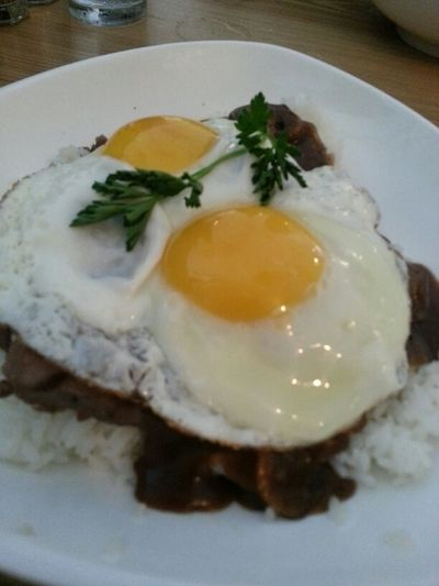 primerib loco moco :) Jermel's birthday brunch