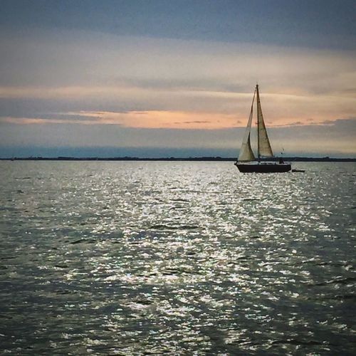 on the sea again! Going Sailing Boats Boat Sailing Water Sea And Sky Sea Sunset Seaside Capture The Moment