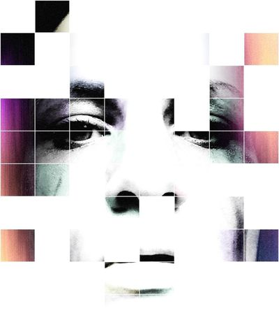 One Person Close-up Face Shapes Behindthescenes Behind The Lens Ginger Ealain Colors Color Portrait Squares And Lines