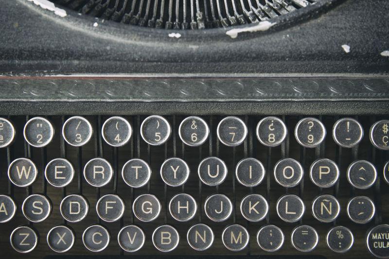 Full frame shot of old keyboard