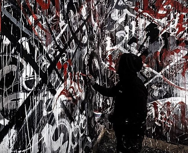 Graffiti Art With Mayonnaise Unexpected Encounter Photographic Approximation Forgotten Dreams New Nightmares