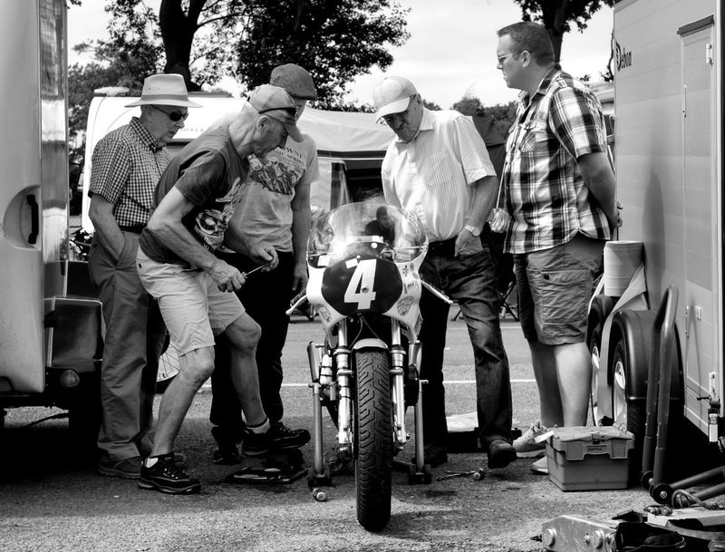 boys being boys!! Motorcycle monochrome photography Black And White Photography Padock Motorsport Motorcycle Racing Full Length Men Togetherness