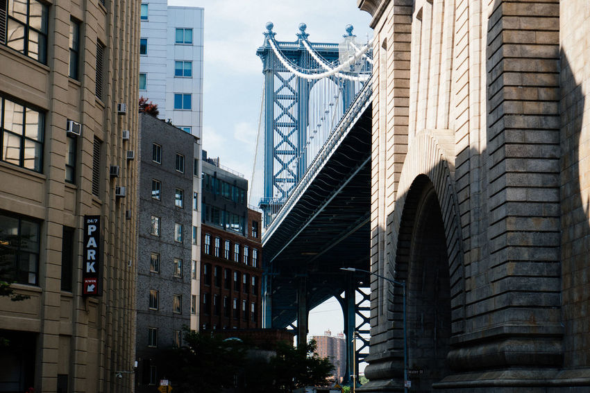 Architecture Bridge Building Exterior Building Story Built Structure City City City Life City Life Contrasts Downtown District Famous Place History Manhattan Bridge Monument New York New York City NY NYC NYC Photography Shadow Sky Sunlit Sunshine Tower
