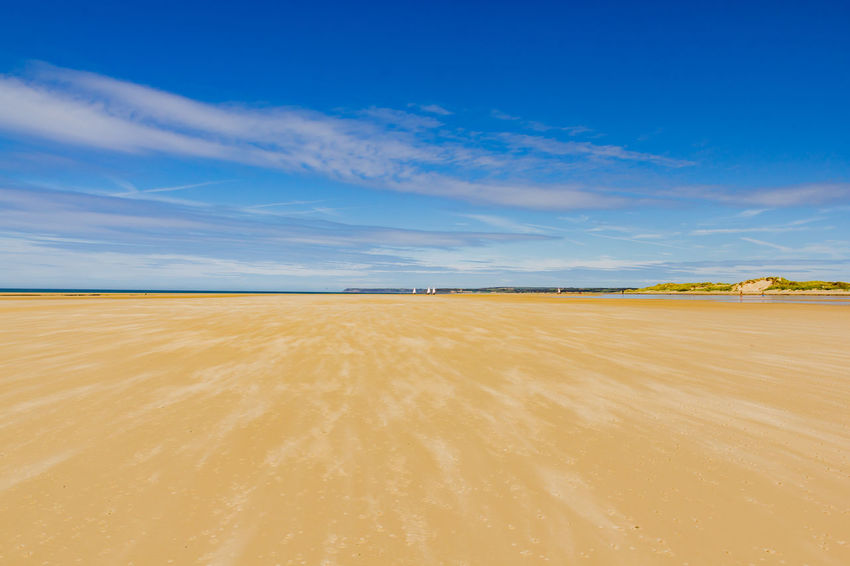 Beautiful empty beach in Normandie Water Horizon Sky Scenics - Nature Land Beauty In Nature Nature Outdoors Day Normandie France Beach Wind Sand Blue Sky