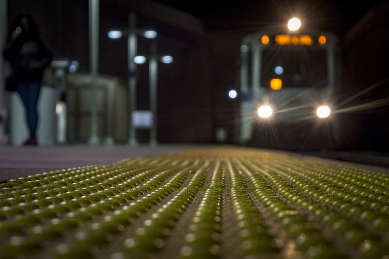 Incoming Train Night Photography Bokeh City Train City Transportation Illuminated Night Travel Train Station Platform