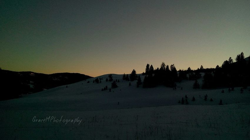 Photography Winter Sunset Landscape Snow