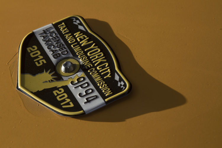 Close-up License Plate New York New York City NYC Single Object Yellow Yellow Cab Yellow Cabs Paint The Town Yellow