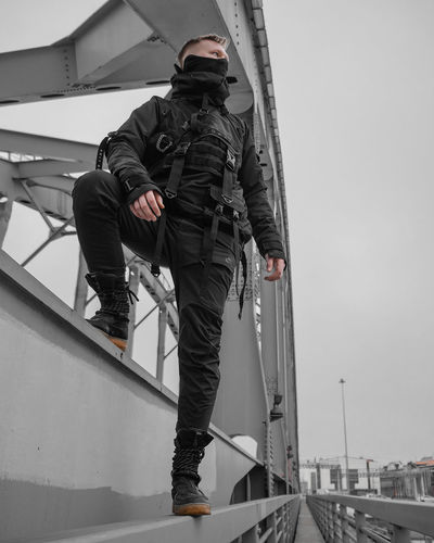 Urban Ninja, Urban, Urban Fashion, Fashion, ninja Real People Architecture Day Clothing Men Transportation People Water Mode Of Transportation Nature Occupation Nautical Vessel Full Length Sky Rear View Outdoors Standing Built Structure Warm Clothing Uniform