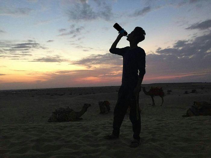 Jaisalmer Sunset Point Sand Dunes Thar Maru Bhumi