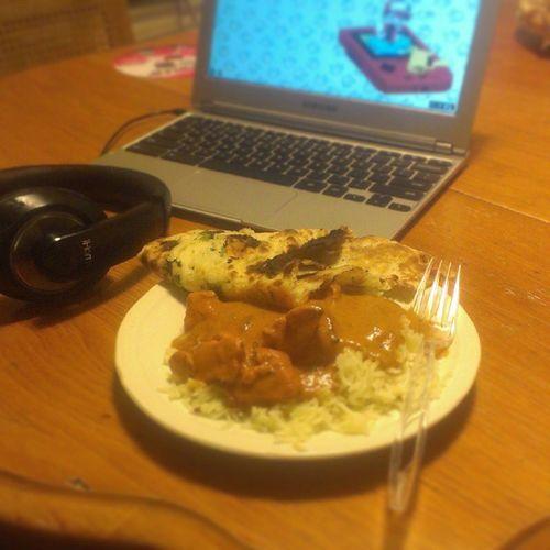 #yummy #tikkamasala for #dinner Yummy Headphones Dinner Foodie Foodporn Foodstagram Indianfood Masala Tikka  Chromebook Tikkamasala Nann Garlicnann