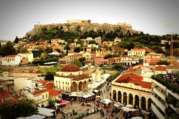 Schöner Ausblick auf Athen und die Akropolis First Eyeem Photo