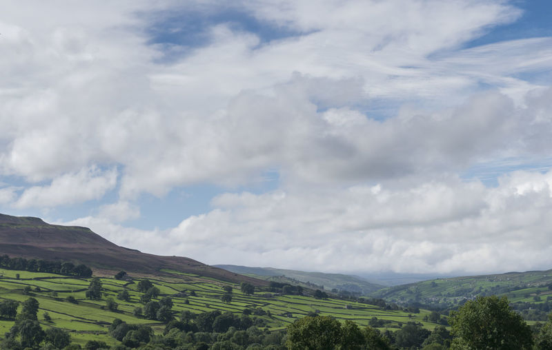 Yorkshire Agriculture Beauty In Nature Cloud - Sky Field Green Color Growth Hillside View Idyllic Landscape Nature Outdoors Rural Scene Scenics Sky Tranquil Scene Tranquility Tree