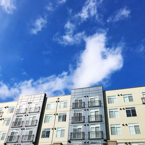 Beautiful day 💙 Architecture Building Exterior Built Structure Low Angle View Sky Window Cloud - Sky