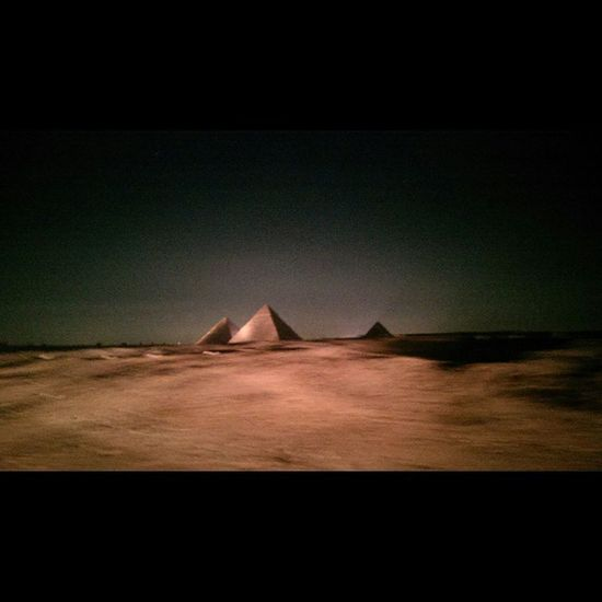 Had A Chance To Take A Shot For The Pyramids At Night. Looks So Wonderfull Egypt Giza Stp