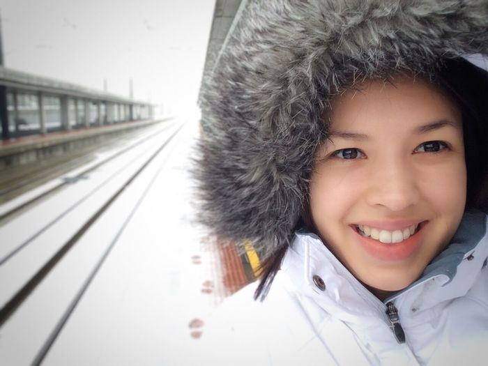 SPAIN RenfeAve Segovia Portrait Headshot Looking At Camera One Person Smiling Transportation Rail Transportation Winter Emotion Day