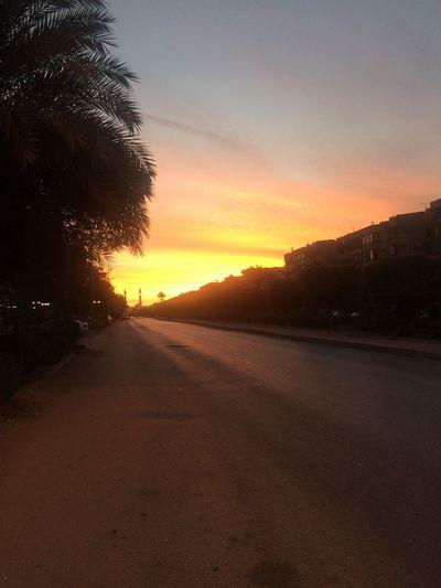 First Eyeem Photo Day Tree Fajer Road No People Sky Sunset