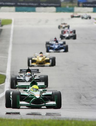 Racecars on track