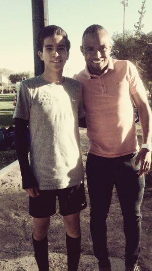 Con el jugador de Gallos Blancos•11• William Da Silva Ejemplo A Seguir Soccer ⚽⚽📷