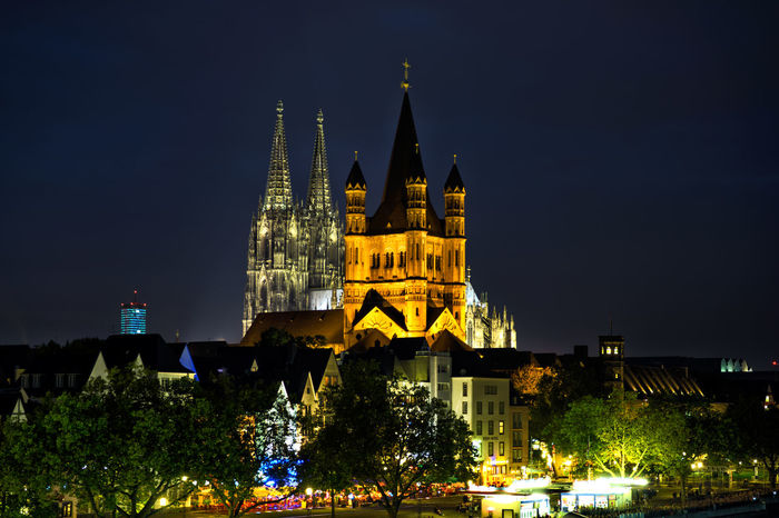 Ancient Architecture Cathedral City Cityscape Cologne Cologne , Köln,  Cultures Deutschland Dom Cathedral Germany Gold Colored History Illuminated International Landmark Köln Kölner Dom Landmark Night Overnight Success Travel Destinations Turkishfollowers Your Ticket To Europe Paint The Town Yellow