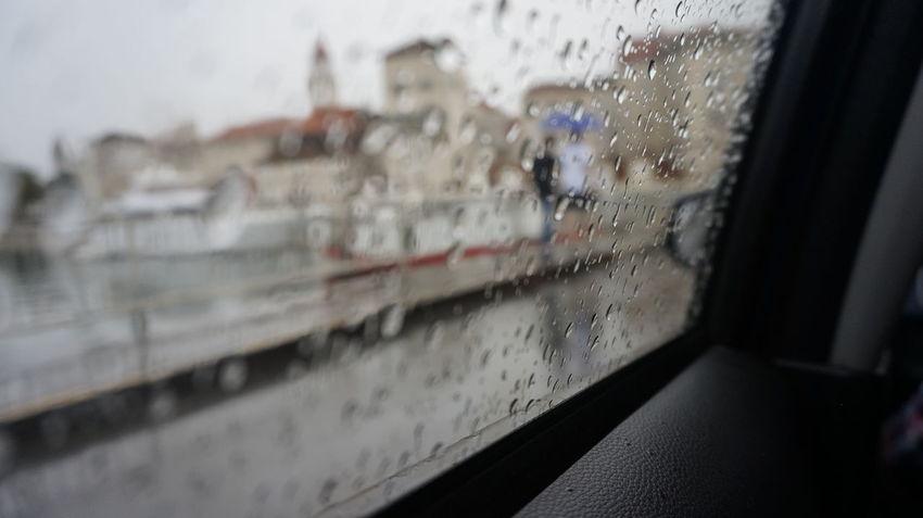 Blur Car Croatia Hope Rainy Days Sadness Travel Window