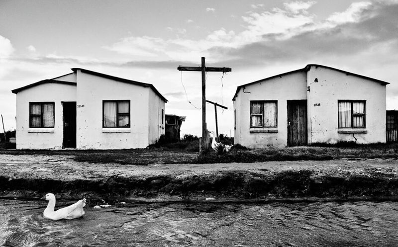 Monochrome Photography Township Townships Landscape Bnw Bnwlandscape Cross Flooded Streets Building Exterior Residential Building Cloud - Sky Social Issues