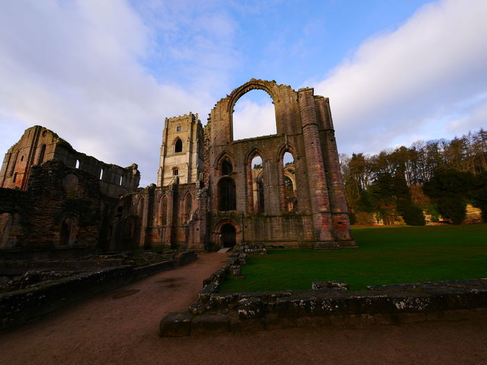 Abandoned Ancient Ancient Civilization Arch Architecture Bad Condition Building Exterior Built Structure Cloud - Sky Damaged Day December December 2016 Fountains Abbey Fountains Abbey Yorkshire Fountains Abbey, Yorkshire History Nature No People Old Ruin Outdoors Run-down Sky The Past Travel Destinations