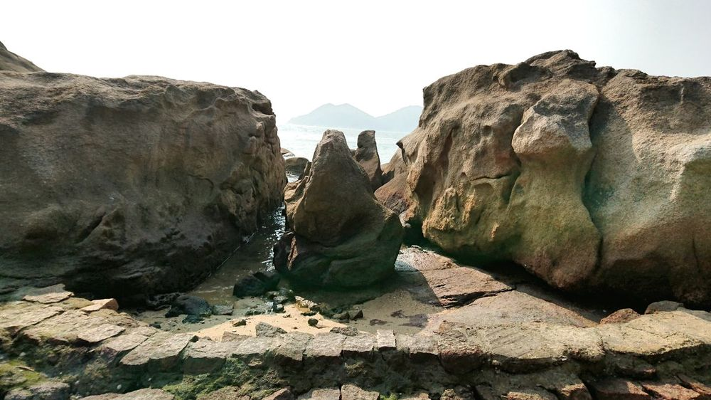 Extinct Dinosaur Nature Sculpture Outdoors Beauty In Nature No People Day Sky Landscape Formation Of Nature Rocks Hong Kong Cheung Chau Textured  Beauty In Nature Nature Rock - Object Sunlight