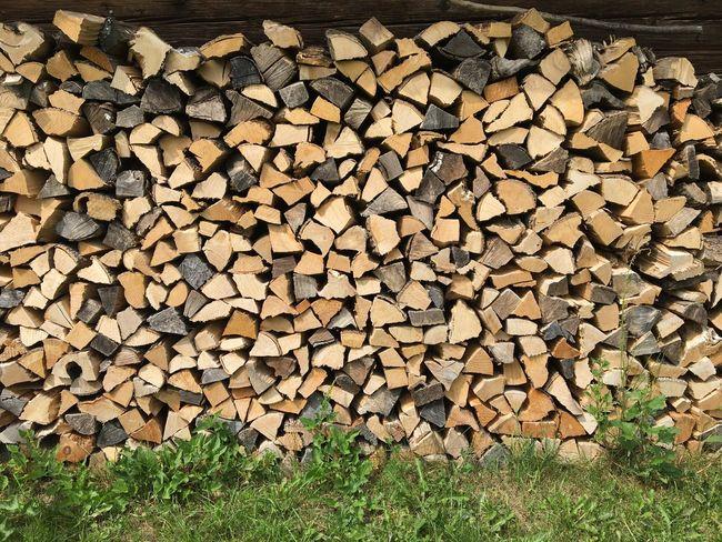 Holz vor der Hüttn, Brennholz, Wood Log Timber Large Group Of Objects Tree Wood Abundance Firewood