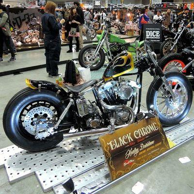 Yokohama hotrod custom show 2013 Hcs2013 Harleydavidson Shovelhead Chopper bobber