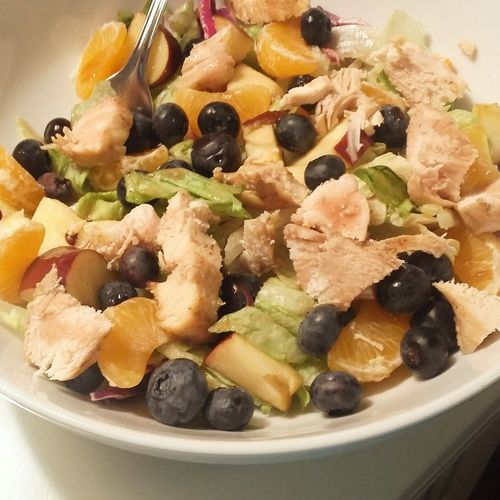 Chicken Salad Close-up Dinner Food Food And Drink Freshness Fruit Healthy Eating Indulgence Meal Prepared Food Salad Temptation Yum