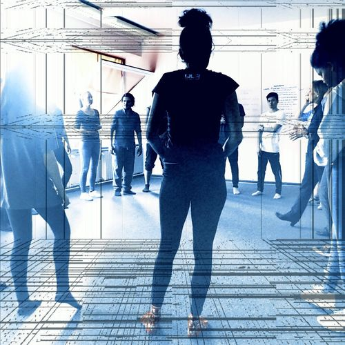 Filmschauspielschule Business Women Walking Men Silhouette Commuter Indoors  Adult Real People Abstract City Adults Only Businessman People Motion Urgency Sky Togetherness Well-dressed Day Filmschauspielschule