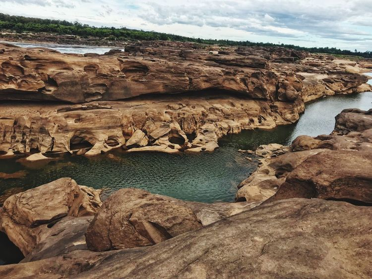 Rock Formation Rock - Object Nature Geology Landscape Beauty In Nature Scenics Water Outdoors Day Travel Destinations Sky