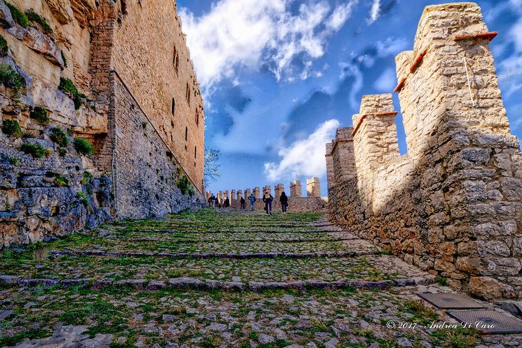 Caccamo Sicily Sky And Clouds Castello Castle, Cielo