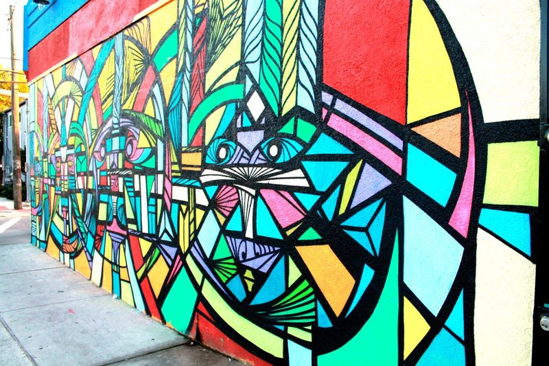 Graffiti Multi Colored Art And Craft Street Art Architecture Built Structure No People Pattern Close-up Building Exterior Outdoors Texas United States Houston Texas