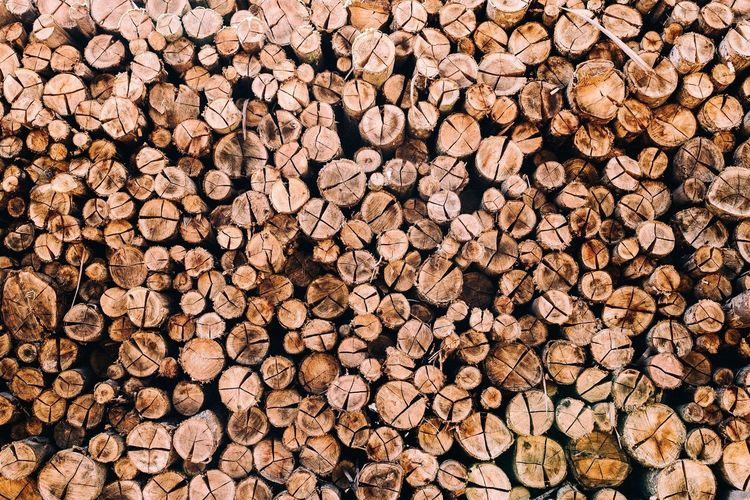 Full Frame Image Of Firewood