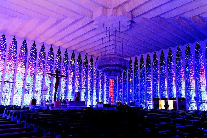Brasilia city-Brazil Brazil - Brasília - DF Brasília - Brazil Architecture_collectionChurch Dom Bosco Light Light And Shadow Croix Jesus Christ Urban Geometry