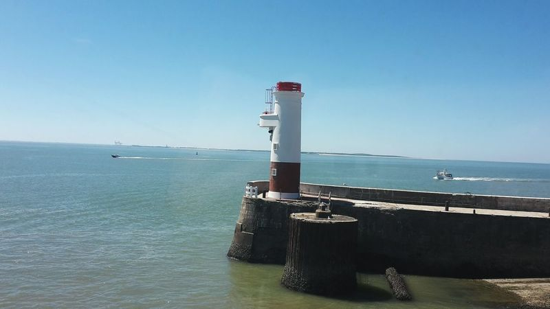 Lighthouse Red White France Royan