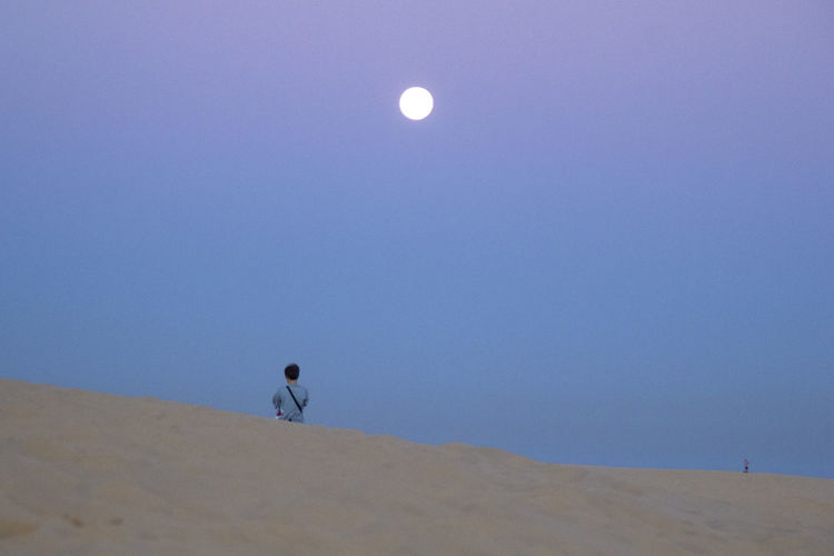 Sunrise Mui Ne Vietnam Desert Moon Sky Nature Beauty In Nature One Person Scenics - Nature Landscape Travel Traveling EyeEm Best Shots EyeEm Best Edits EyeEm Nature Lover