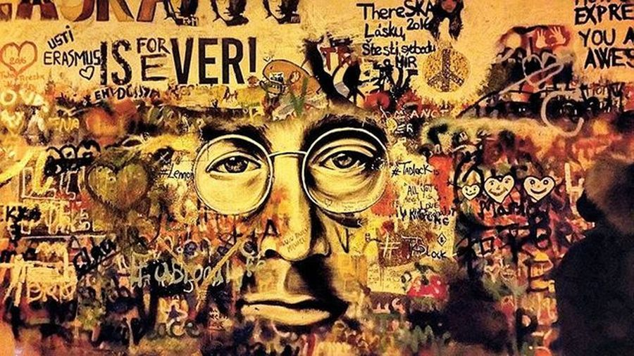 Jhonlennon Wall Prague Love Is Forever Istapic Istapicture Picoftheday Followback Followme Legend Of Music