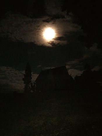 Moon shine, midnight, dark