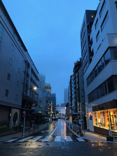 Empty streets of Tokyo? Must be Taifun season. Dystopia Direction Weather Condition Illuminated Zebra Crossing No People
