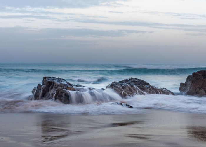 Nikon Portugal Beach Beachphotography Beauty In Nature Cloud - Sky Horizon Over Water Long Exposure Nature Portugal_em_fotos Sand Scenics Sea Sky Smooth Tranquil Scene Tranquility Water Wave