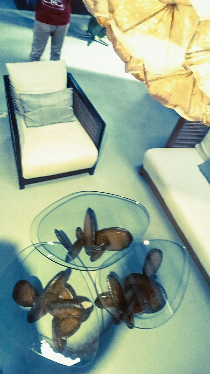 indoors, table, high angle view, food, no people, close-up, day, freshness