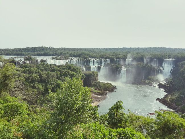 My Year My View Water Sky Clouds Argentina Iguazu Falls Nature Tropical Climate Landscape South America Seven Wonders Finding New Frontiers