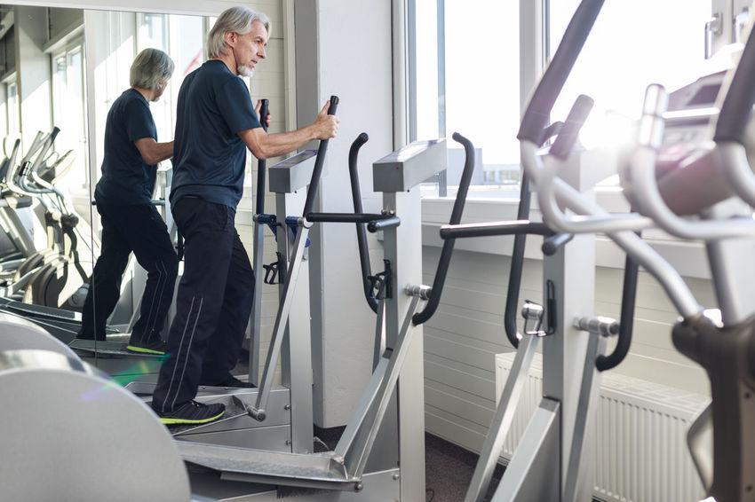 Athlete Exercising Running Sportsman Treadmill Activity Exercising In Nature Fitness Gym Health Club Healthy Healthy Lifestyle Indoors  Jogging Retirement Plan Senior Senior Adult Senior Men Sport Sports Technology Walking Workout