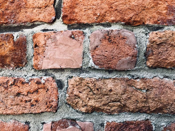 Bricks Mur Cegły Full Frame Backgrounds Day No People Pattern High Angle View Textured  Nature Sunlight Outdoors Brick Footpath Brown Directly Above Close-up Solid Rough Wall Design Wall - Building Feature