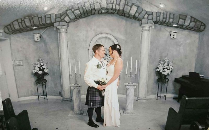 Me And My Beautiful Wife Little Chapel Of Flowers Newlyweds Big Day Las Vegas Wedding Photography Weddings Around The World Women Who Inspire You Wedding