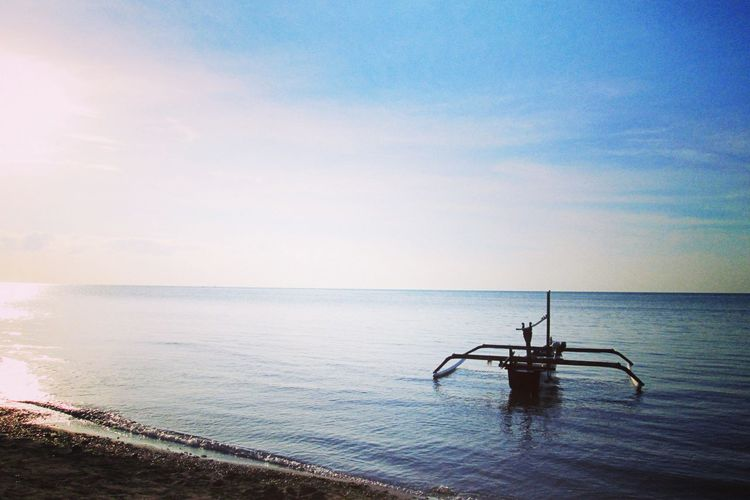 Departed Bluesea Seaside Sea And Sky Scenery Nature_collection Indonesia Photography  Indonesia Photography  VSCO Naturephotography BestEyeemShots Nationalpark Water Sea Sky Horizon Over Water Scenics - Nature Horizon Beauty In Nature Nature