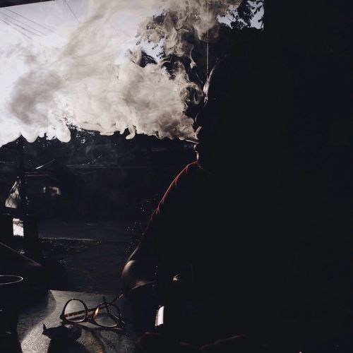 Smoke - Physical Structure Real People Indoors  One Person Day People